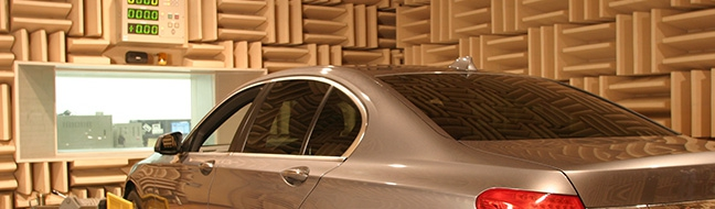 Acoustic testing conducted through the recreation of in-vehicle environments